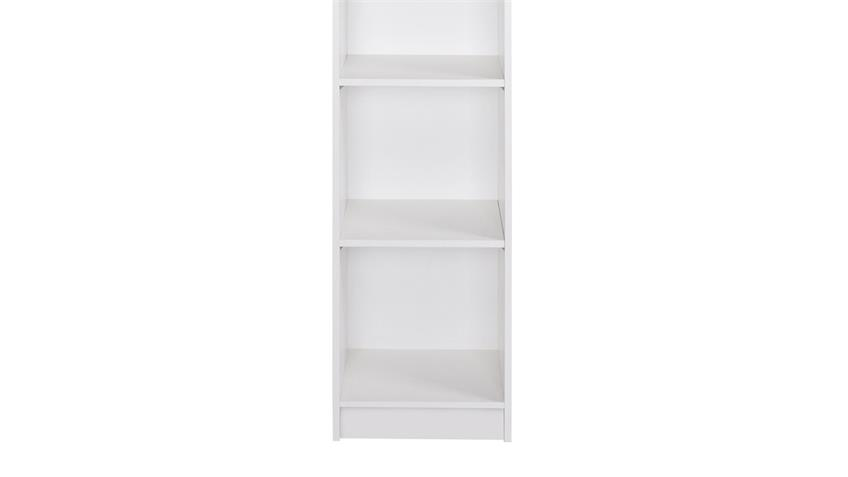 Regal LANDWOOD Bücherregal in weiß mit 5 Fächern 50 cm Landhausstil