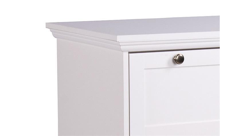 Kommode LANDWOOD Sideboard in weiß 3 Schubkästen
