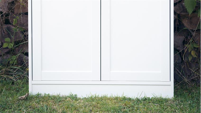 Kommode LANDWOOD Stauraumelement in weiß mit 2 Türen Landhausstil