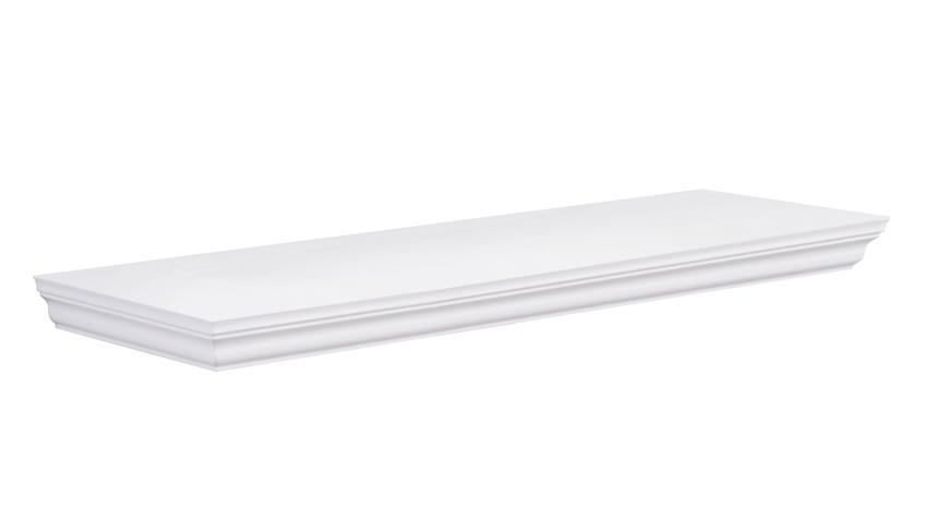 Wandboard LANDWOOD Wandregal in weiß mit 1 Ablage 60 cm Landhausstil