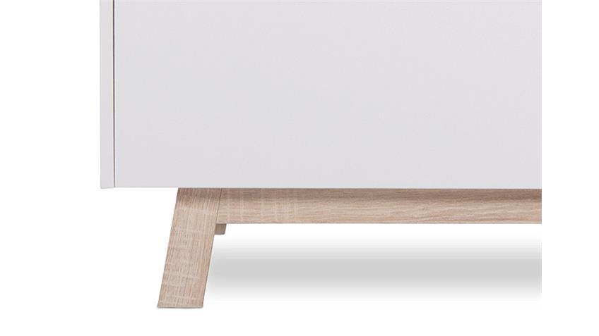 Kommode APART 1 weiß und Sonoma Eiche Breite 100 cm