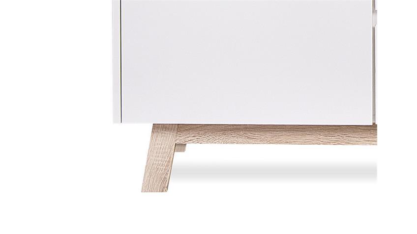 Kommode APART 2 weiß und Sonoma Eiche Breite 120 cm