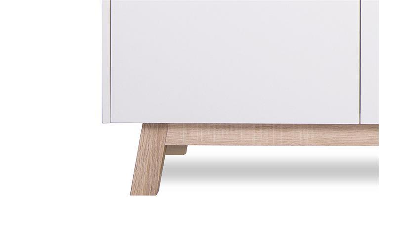 Sideboard APART 3 weiß und Sonoma Eiche Breite 200 cm