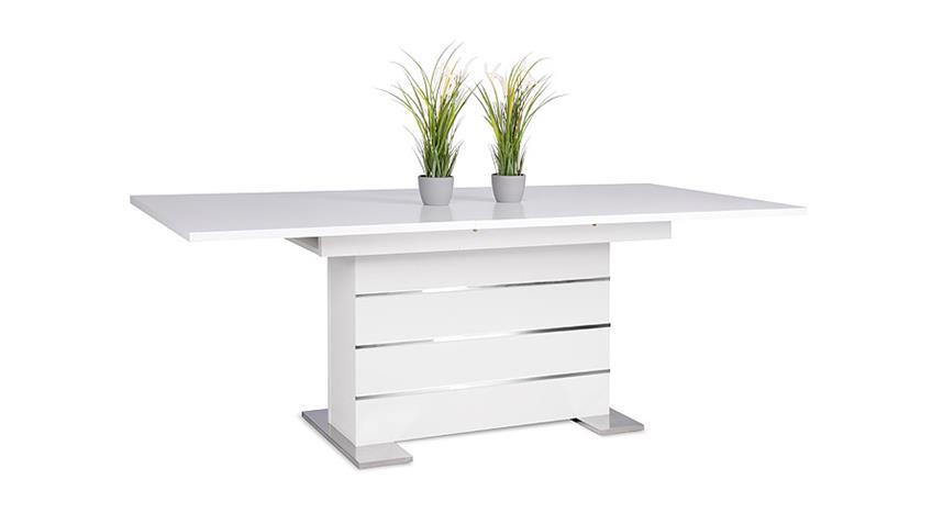 Tisch Mantova Esstisch weiß ausziehbar 160-200x90 cm