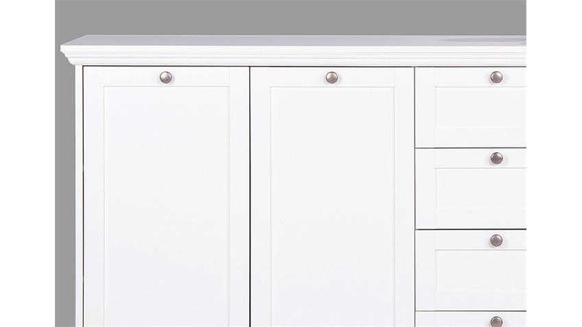 Sideboard LANDWOOD 52 in weiß Dekor Landhausstil