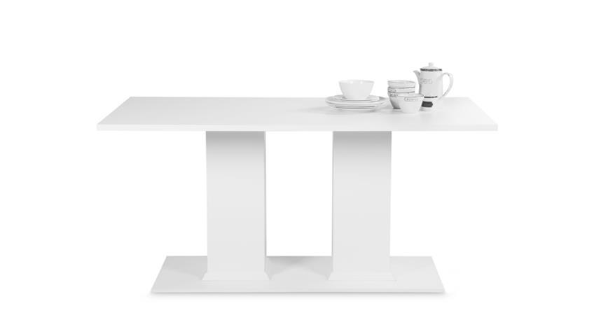 Tisch LANDWOOD 55 in Weiß160x90 cm im Landhausstil