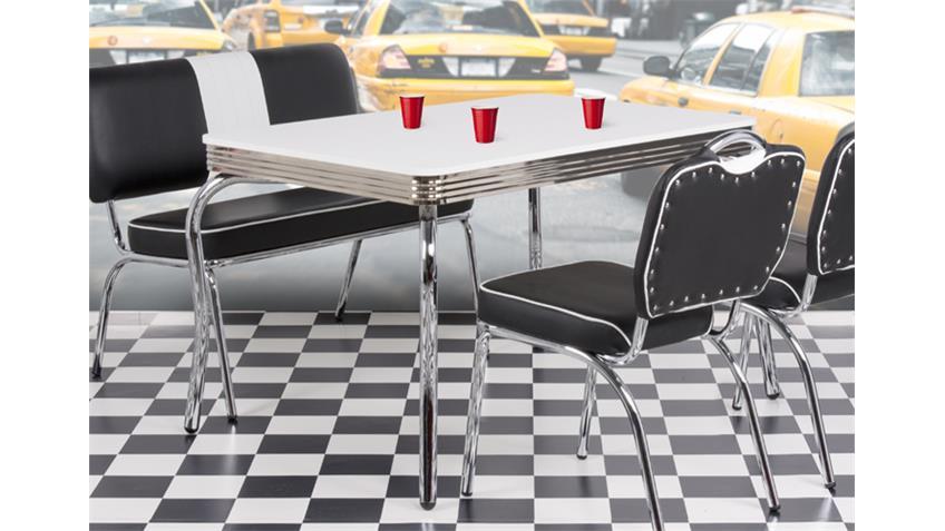 Tisch ELVIS 50er Jahre American Diner 120x80 cm verchromt