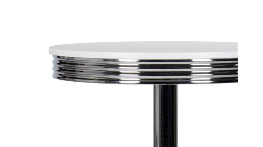 Bistrotisch ELVIS 50er Jahre American Diner 70cm verchromt