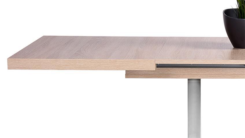 Ausziehtisch Quadrato in Eiche Sonoma Breite 120-200 cm