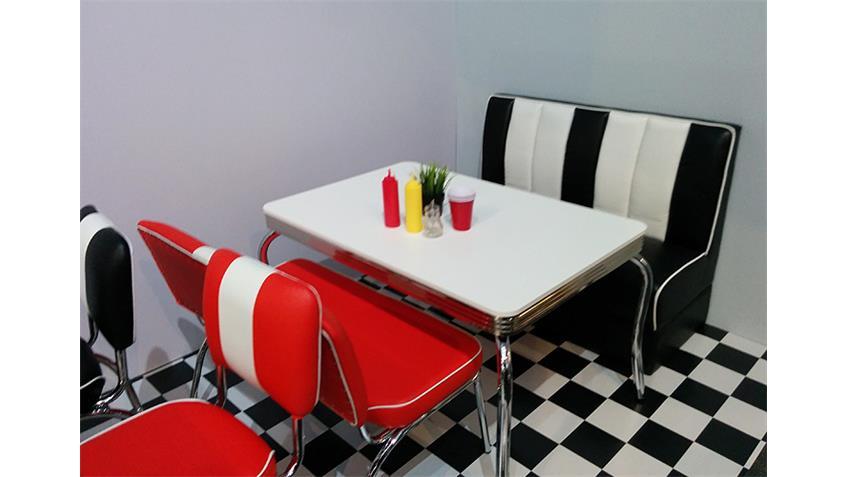 Bank ELVIS rot Gestell Chrom 50er Jahre American Diner