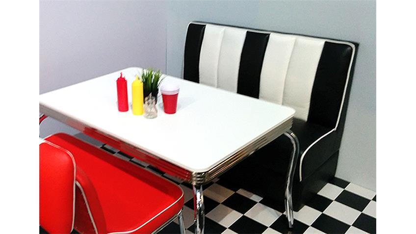Bank Elvis Polsterbank Sitzbank American Diner 50er schwarz