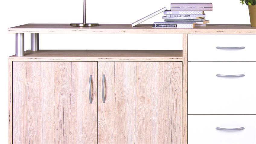 Sideboard Maximo Eiche Sonoma mit 4 Türen und 4 Schubkästen