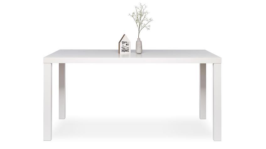 Esstisch PRINO MDF in weiß Hochglanz lackiert 140x80 cm