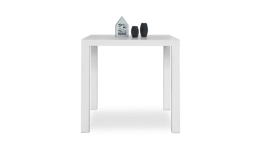 Esstisch PRINO MDF in weiß matt lackiert 80x80 cm