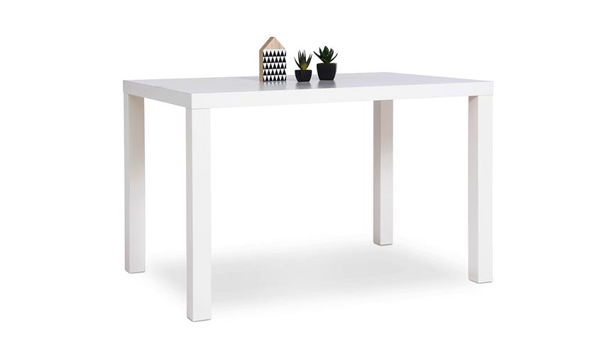 Esstisch PRINO MDF in weiß matt lackiert 120x80 cm