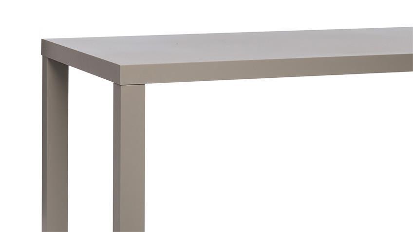 Esstisch PRINO MDF in grau Hochglanz lackiert 140x80 cm