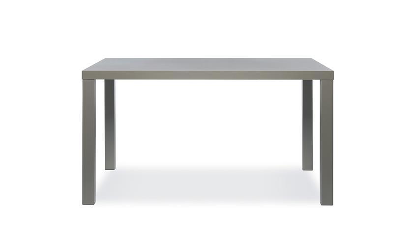 Esstisch PRINO MDF in grau Hochglanz lackiert 160x80 cm