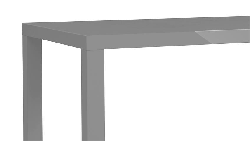 Esstisch PRINO MDF in grau Hochglanz lackiert 120x80 cm Bürotisch