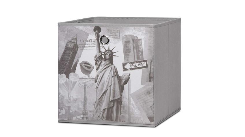 Faltbox FLORI 1  Korb Aufbewahrungsbox Regal City grau