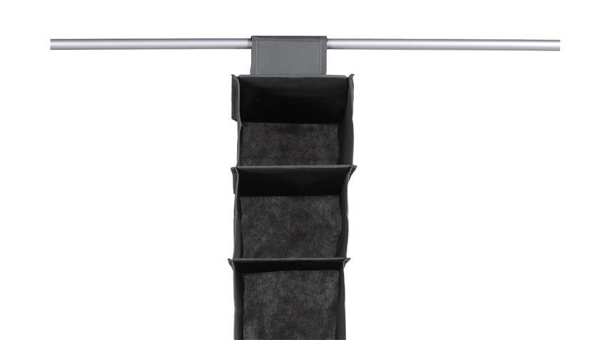 Hängekorb FLORI 9 Kleiderschrank Korb schmal anthrazit 9 Fächer