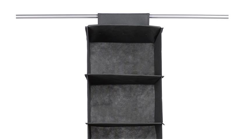 Hängekorb FLORI 10 Kleiderschrank Korb breit anthrazit 6 Fächer