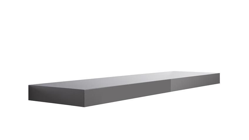 Wandboard TUNA LACK in grau Hochglanz lackiert 90 cm