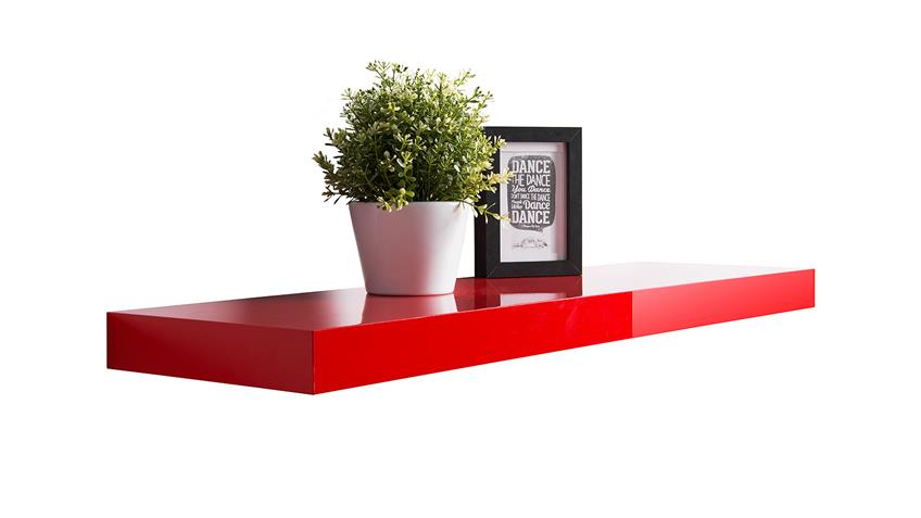 Wandboard TUNA LACK in rot Hochglanz lackiert 90 cm