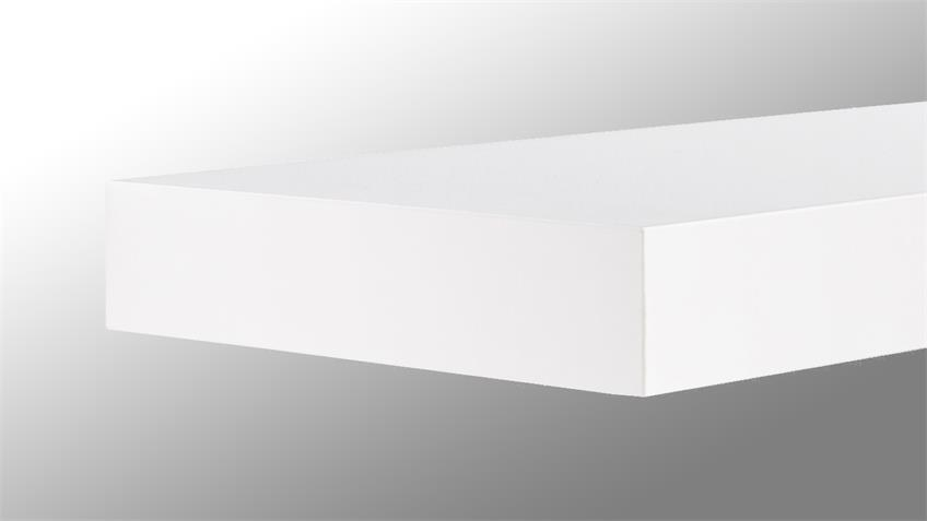 Wandboard TUNA LACK in weiß Hochglanz lackiert 90 cm