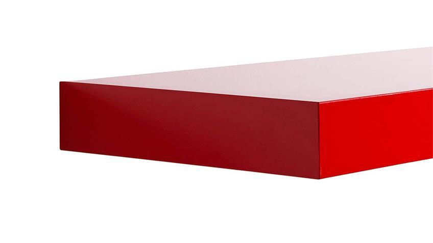 Wandboard TUNA LACK in rot Hochglanz lackiert 60 cm