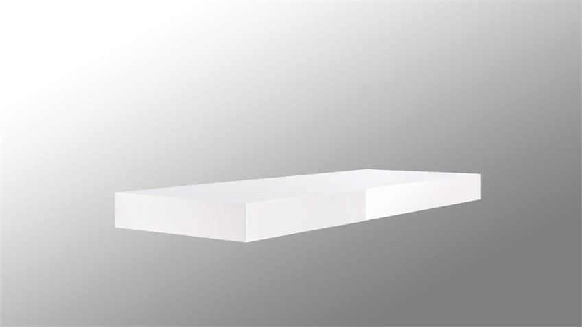 Wandboard TUNA LACK in weiß Hochglanz lackiert 60 cm