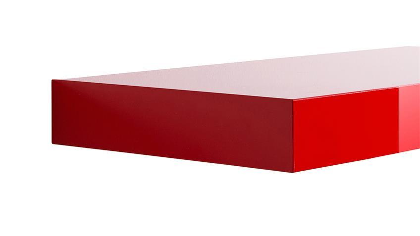 Wandboard TUNA LACK in rot Hochglanz lackiert 30 cm
