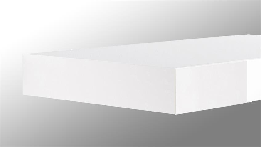 Wandboard TUNA LACK in weiß Hochglanz lackiert 30 cm