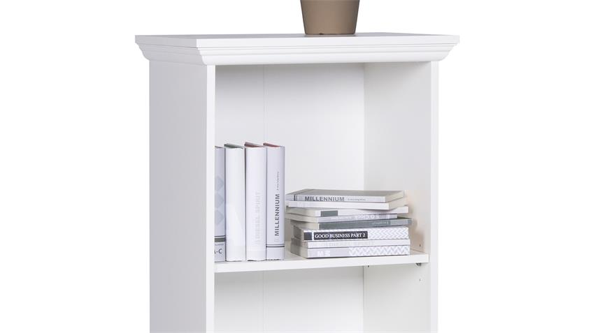 Regal LANDWOOD Bücherregal in weiß mit 3 Fächern 42 cm Landhausstil