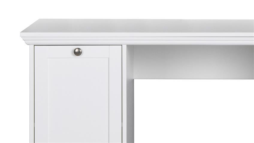 schreibtisch landwood 31 in wei landhaus mit 2 t ren. Black Bedroom Furniture Sets. Home Design Ideas