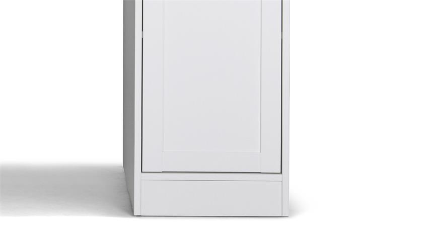 Schreibtisch LANDWOOD 31 in weiß Landhaus mit 2 Türen