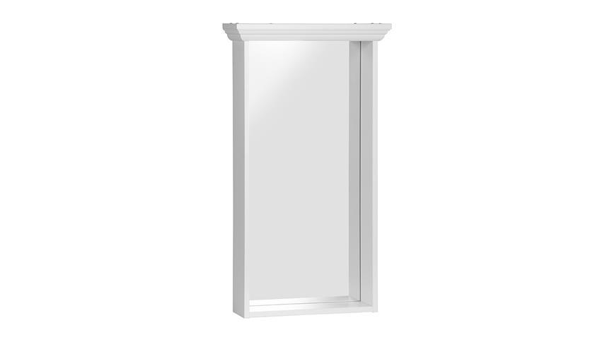 Spiegel LANDWOOD 42 in weiß Landhaus mit Rahmen