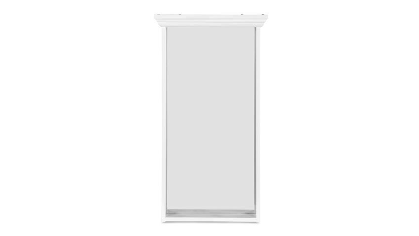 Spiegel LANDWOOD Wandspiegel in weiß mit 1 Ablageboden Landhausstil