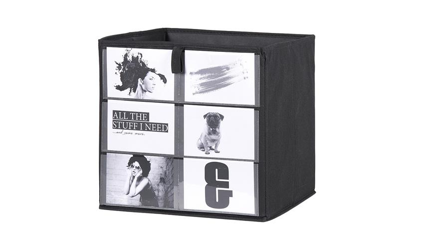 Fotobox FLORI 1 Faltbox Aufbewahrungsbox Regal anthrazit