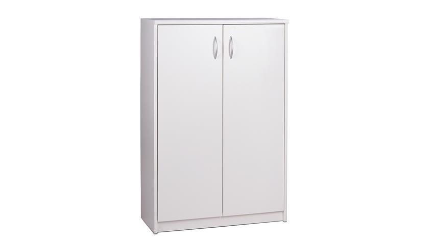 Schuhschrank KIEL 7 weiß mit 2 Türen und 4 Böden