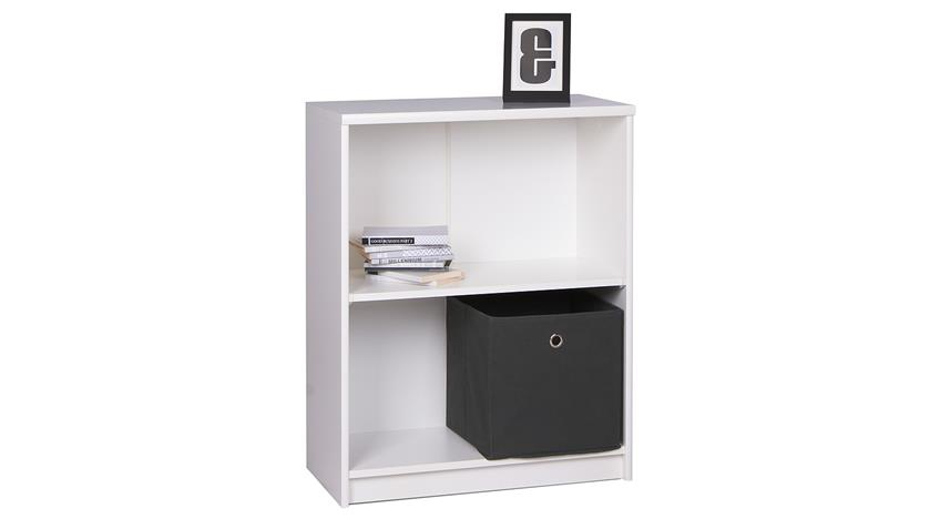 Regal KIEL 21 Bücherregal in weiß mit 2 Fächern