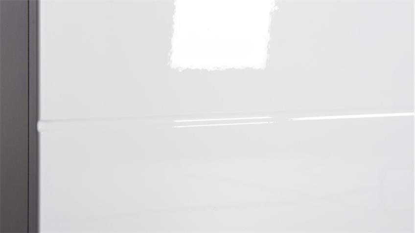 Kommode GLOSSY 6 in weiß Hochglanz mit 2 Türen