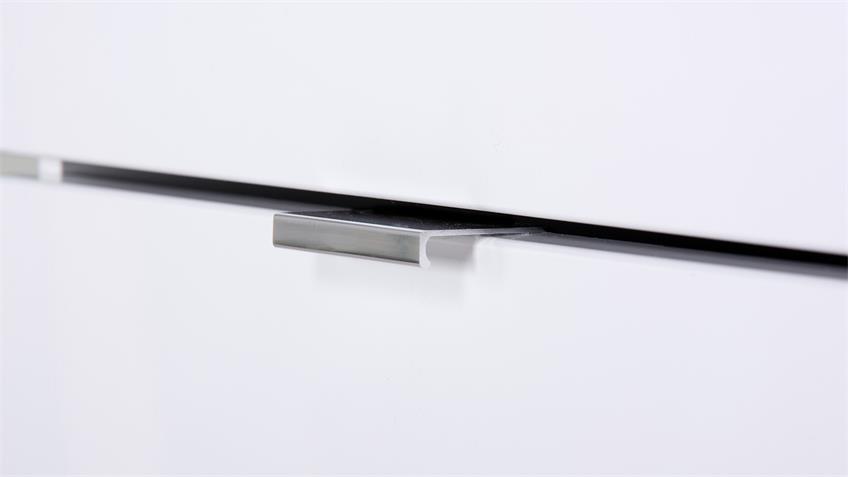 Kommode GLOSSY 7 in weiß Hochglanz mit 3 Schubkästen