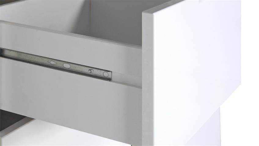 Kommode GLOSSY Anrichte Sideboard Schrank in weiß Hochglanz 100 cm