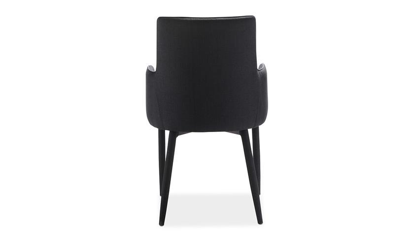 Stuhl GALA Esszimmerstuhl komplett in Stoff schwarz