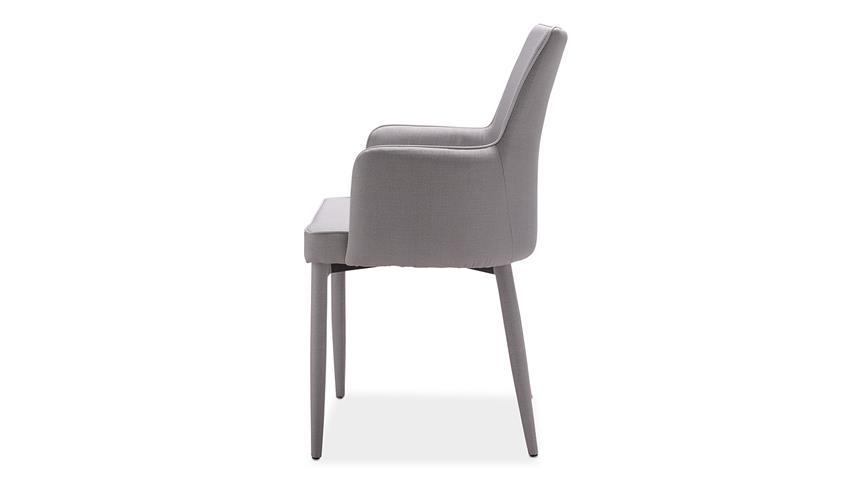 Stuhl GALA Esszimmerstuhl komplett in Stoff grau