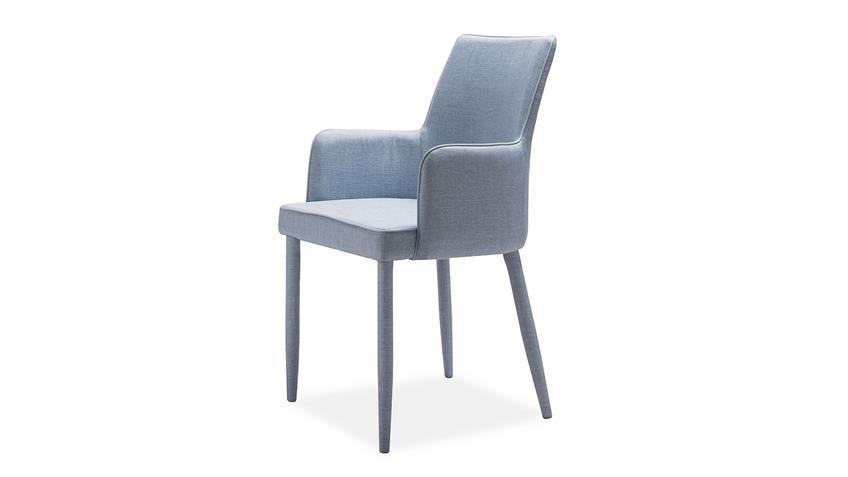 Stuhl GALA Esszimmerstuhl komplett in Stoff blau