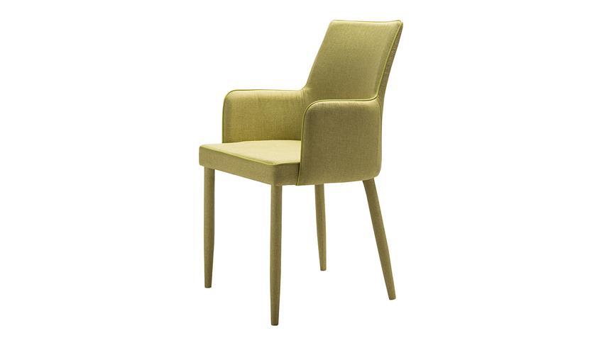 Stuhl GALA Esszimmerstuhl komplett in Stoff grün