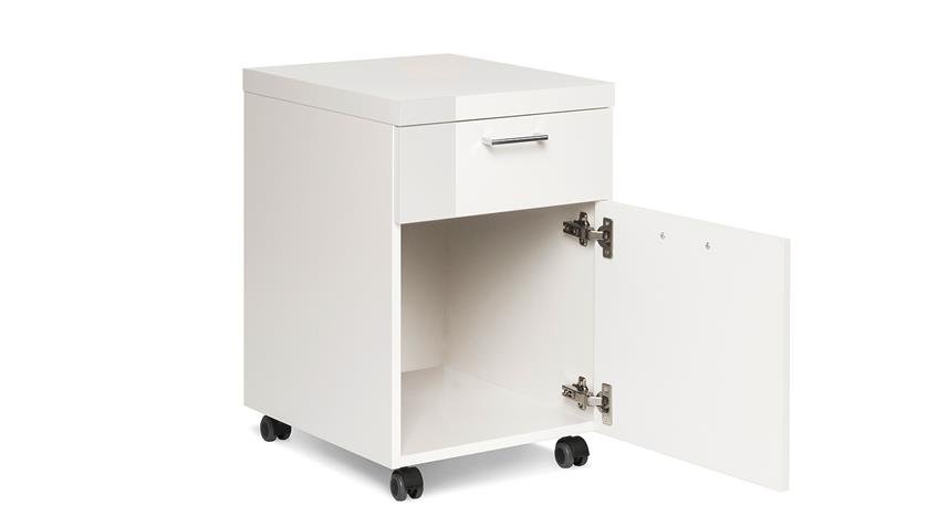 Rollcontainer PRINO in weiß Hochglanz lackiert