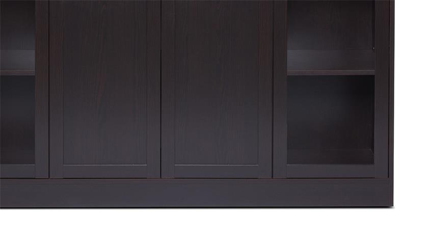 Highboard TABACO in schwarzbraun darkwood 4 Türen