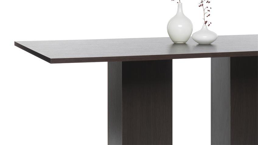 Esstisch TABACO in schwarzbraun darkwood 160x90 cm